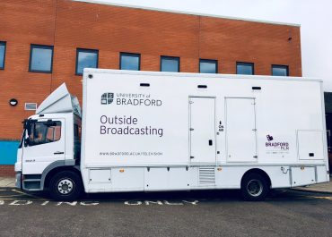 Media Production students welcome Bertha, the outside broadcasting van, to Wilberforce